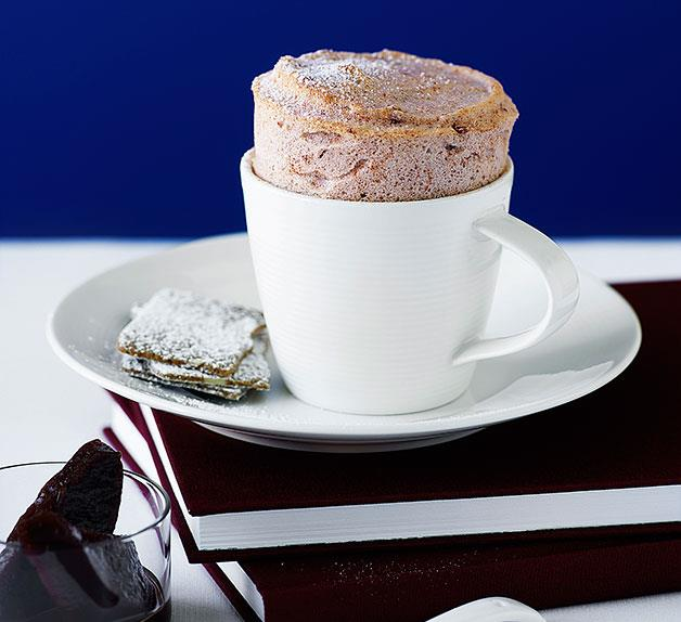 Quince and Earl Grey soufflés