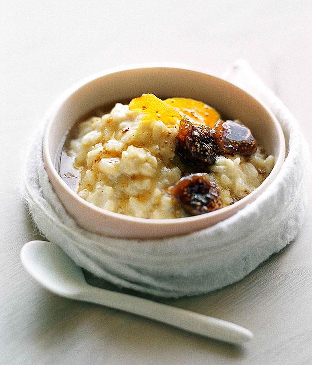 """**[Fig and brandy rice pudding](https://www.gourmettraveller.com.au/recipes/browse-all/fig-and-brandy-rice-pudding-9747