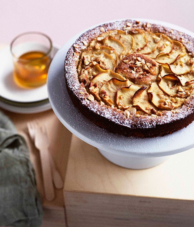 Apple, ginger and almond cake