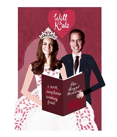 Royal wedding menus