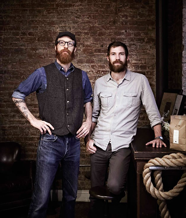 **** **Old-school charm**   Chocolate-makers Rick (left) and Michael Mast of Mast Brothers in Brooklyn, New York.      PHOTOGRAPHY ARMELLE HABIB