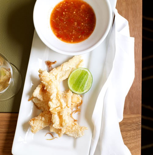 **Salt-and-pepper squid with tomato nahm jim**