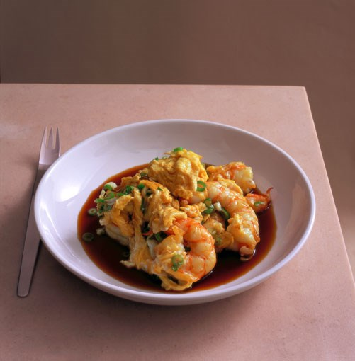 **Prawn scrambled eggs**