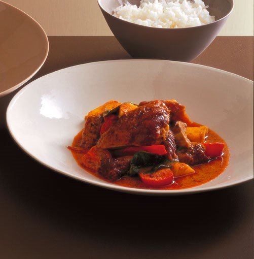 **Red curry of duck and pineapple**