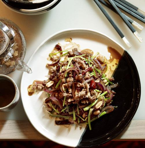 **Stir-fried chopped duck with coriander and black vinegar** **Stir-fried chopped duck with coriander and black vinegar**    [View Recipe](http://www.gourmettraveller.com.au/neil-perry-stir-fried-chopped-duck-with-coriander-and-black-vinegar.htm)