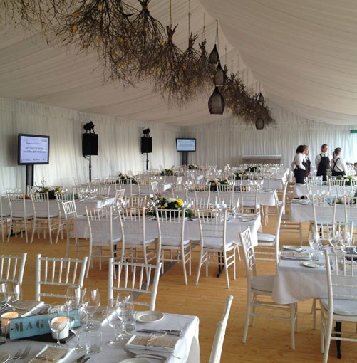 **** Setting up for the glam _GT_ Icon Dinner at Voyager Estate.