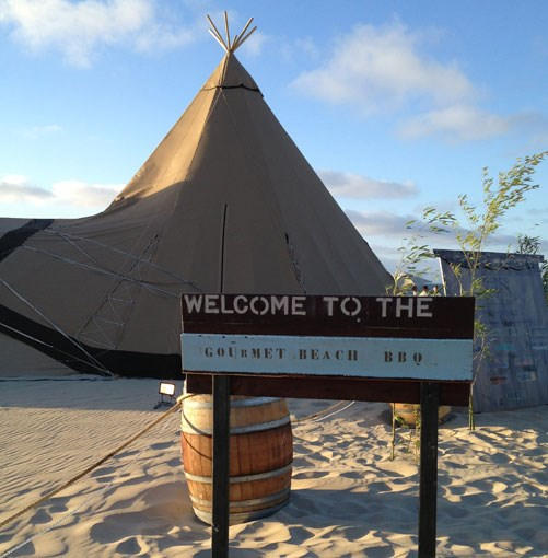 **** Smiths Beach, the tepee-enhanced setting for the weekend's launch and some of its best barbecues.