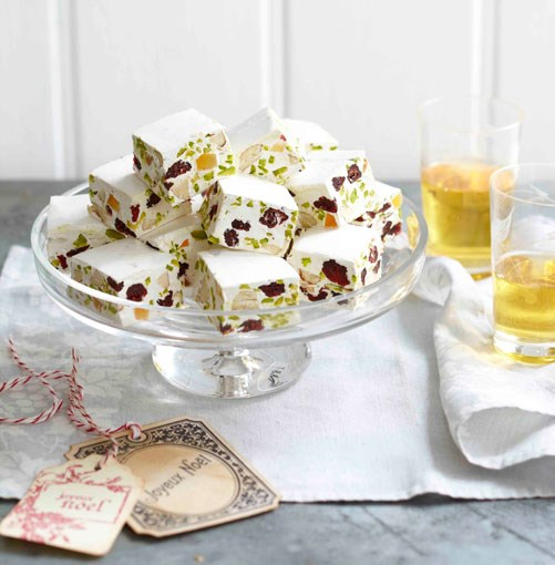 **Cranberry, pistachio and almond nougat**