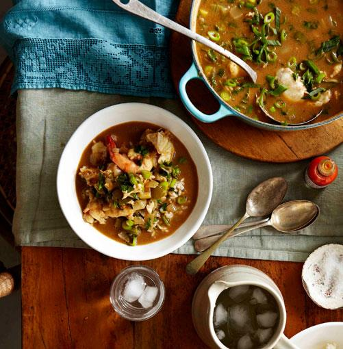 **Boo's shrimp and crab gumbo** **Boo's shrimp and crab gumbo**    [View Recipe](http://www.gourmettraveller.com.au/boos-shrimp-and-crab-gumbo.htm)