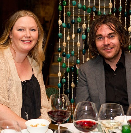 **** _Gourmet Traveller_ senior food editor Lisa Featherby and chef Shannon Bennett.