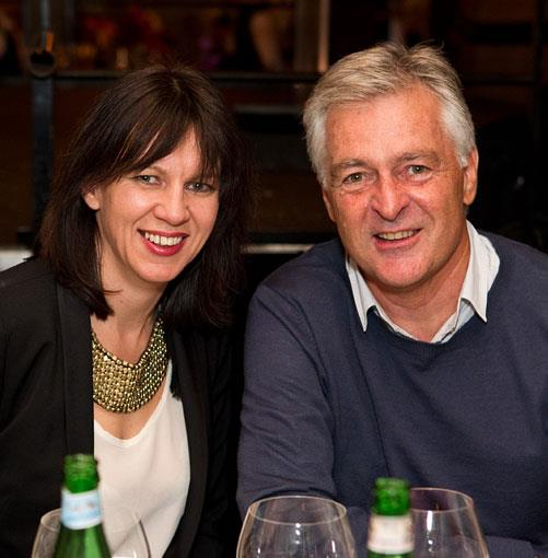 **** _Gourmet Traveller_ food & style director Emma Knowles and Est. chef Peter Doyle.
