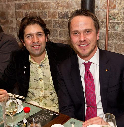**** Chef Ben Shewry and Sommelier of the Year finalist Greg Plowes, of Tetsuya's.