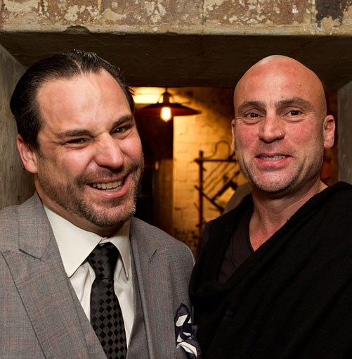 **** Restaurateurs John Fink (Quay) and Maurice Terzini (Icebergs Dining Room & Bar).