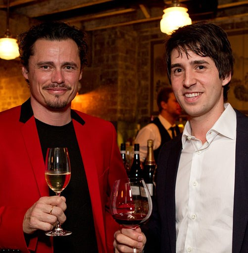 **** Carlton Wine Room's Jay Bessell, winner of Wine List of the Year, and Urbane's Alejandro Cancino, winner of Best New Talent.
