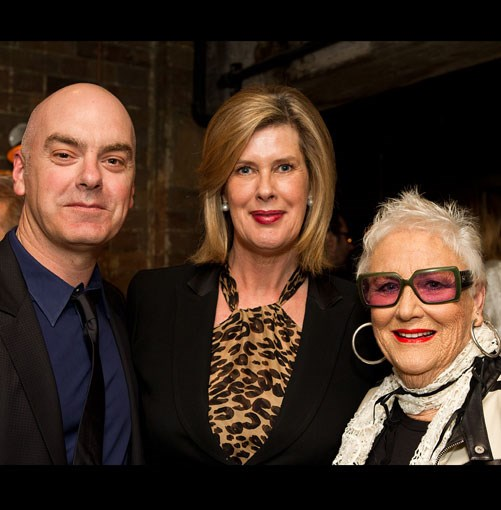 **** Chef Mark Best, winner of last year's Restaurant of the Year award, ACP's Deborah Thomas and Merivale Hemmes.