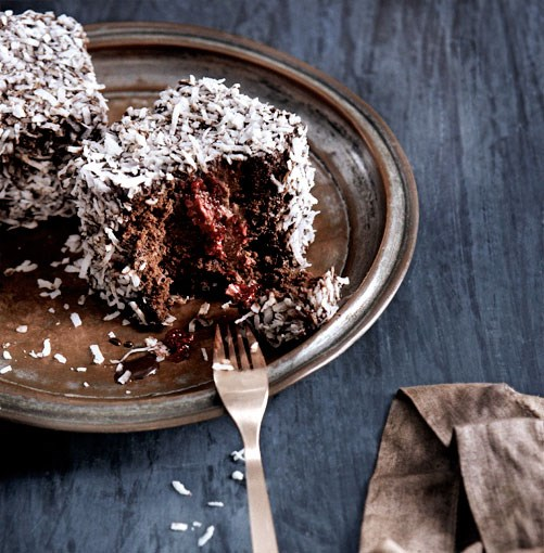 **Triple-chocolate lamingtons** **Triple-chocolate lamingtons**    [View Recipe](http://www.gourmettraveller.com.au/triple-chocolate-lamingtons.htm)