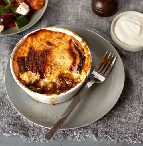 "[**Braised lamb neck moussaka**](http://www.gourmettraveller.com.au/recipes/chefs-recipes/braised-lamb-neck-moussaka-8940|target=""_blank"")"