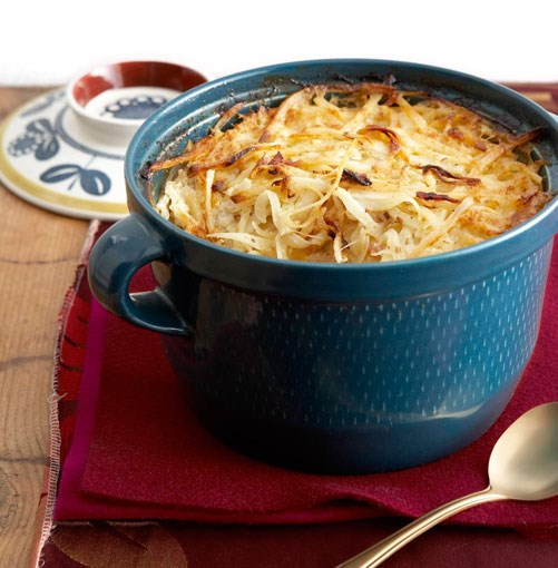 **Potato and bacon gratin**
