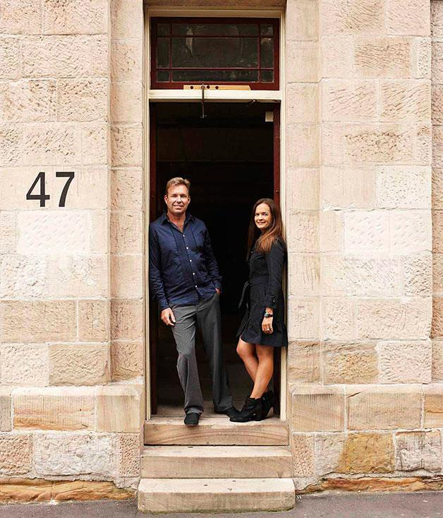 **** **Baillies on the Rocks**   James and Hayley Baillie on the site of their new Sydney property.      PHOTOGRAPHY ANTHONY GEERNAERT