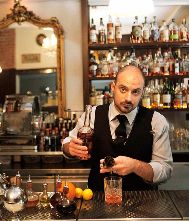 **** **Make it a double**   Michael Madrusan, co-owner of Melbourne whiskey oasis The Everleigh.      PHOTOGRAPHY JULIAN KINGMA