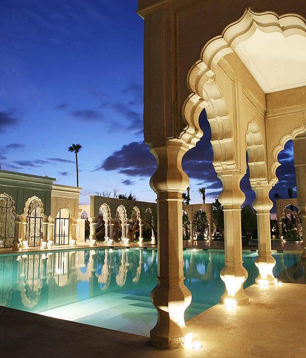 **** **Fit for a king**   The main swimming pool at Palais Namaskar, Marrakech.