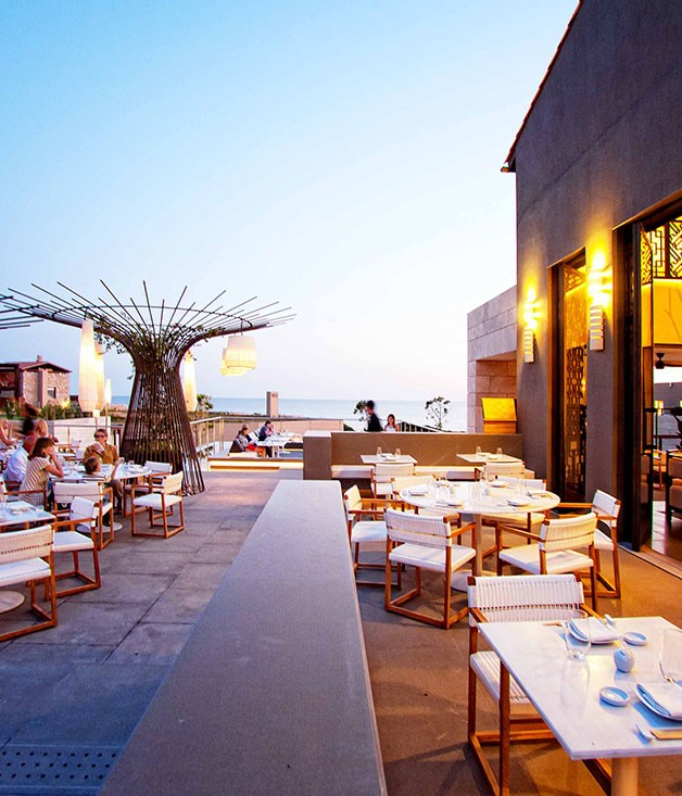 **** **Hellenic heaven**   The Asian-inspired Inbi restaurant at Costa Navarino.