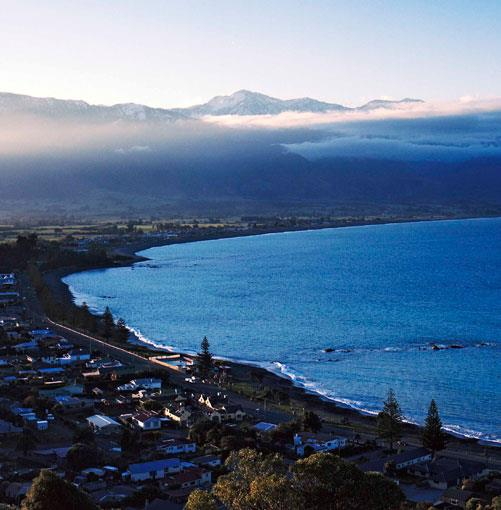 **** Kaikoura  Kaikoura, the tiny coastal town on New Zealand's South Island, draws a million visitors a year thanks to its spectacular views and marine life. This is eco-tourism at its best.  [click here for the article](http://www.gourmettraveller.com.au/kaikoura-new-zealand.htm)