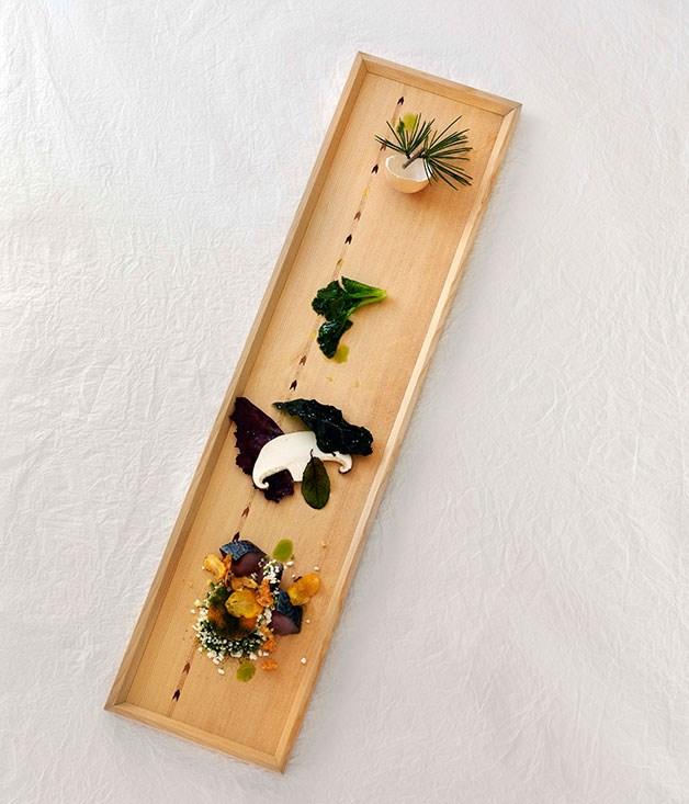 **** Norwegian Wood by Mark Best (Marque, Sydney), dish by Conami Aoki.