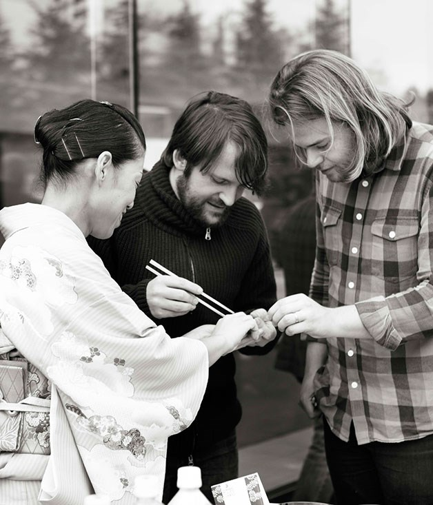 **** René Redzepi and Magnus Nilsson enjoying Ishikawa hospitality.
