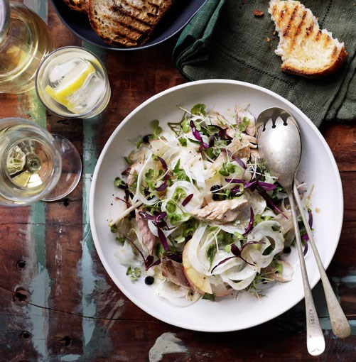 **** **Smoked mackerel with Marsala currants and shaved fennel**    [View Recipe](http://www.gourmettraveller.com.au/smoked-mackerel-with-marsala-currants-and-shaved-fennel.htm)     PHOTOGRAPH **BEN DEARNLEY**
