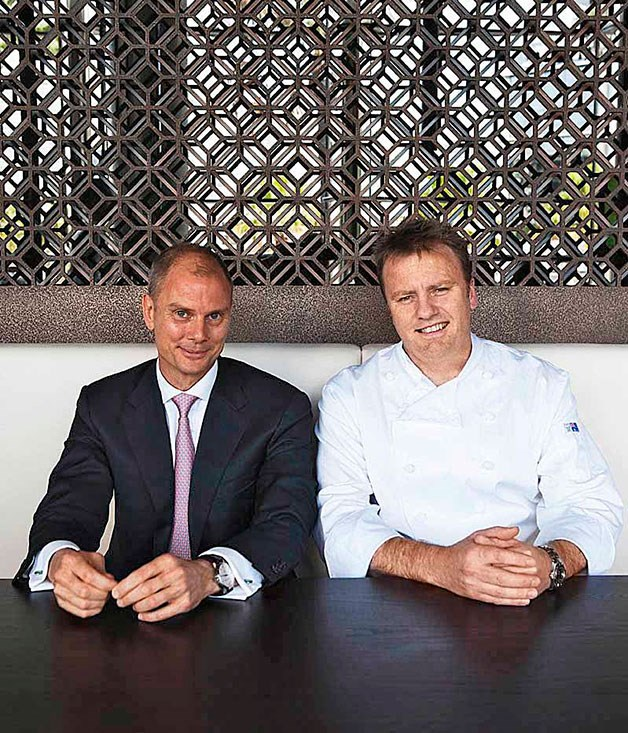 **** Black general manager Craig Hemmings (left) with chef Teage Ezard.