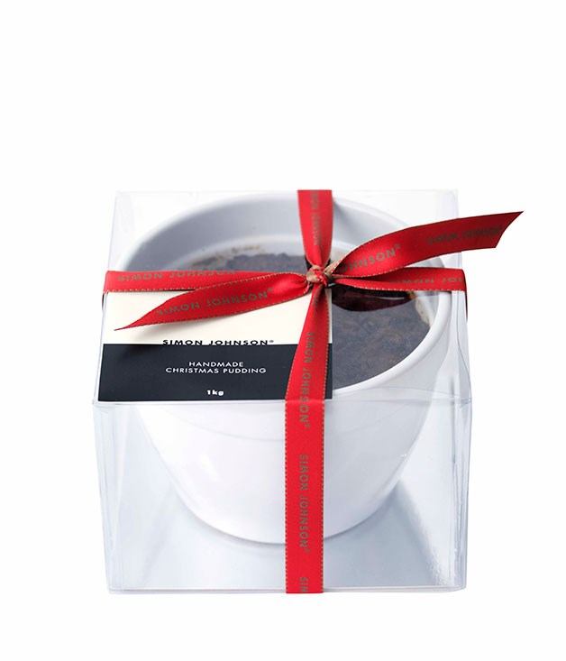 **** SIMON JOHNSON CHRISTMAS PUDDING 1kg, $56   I like the colour – it looks shiny. There's a bit too much peel in there for me. I think you should have a light hand with peel, just because it's so strong. It's a bit grey and greasy; it falls apart. JS 2.5   This looks well-made. I think the flavour's okay, but the texture is crumbly. CT 3   It's quite sweet and really moist, almost like when you've been boiling something and moisture gets into it. The sultanas are nice and plump and they're whole. Maybe the fruit needed to be cut up a little. LF 3