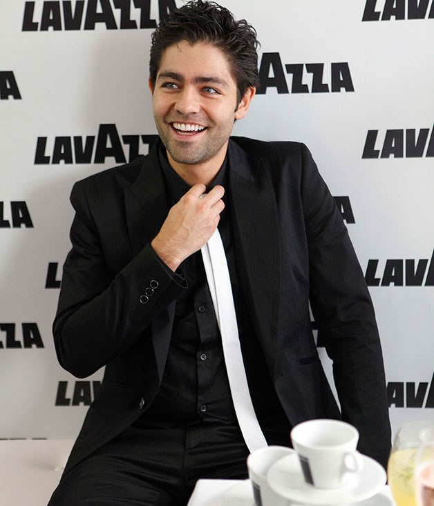 **** Adrian Grenier from Entourage garnered the biggest following at the Lavazza marquee in 2011.