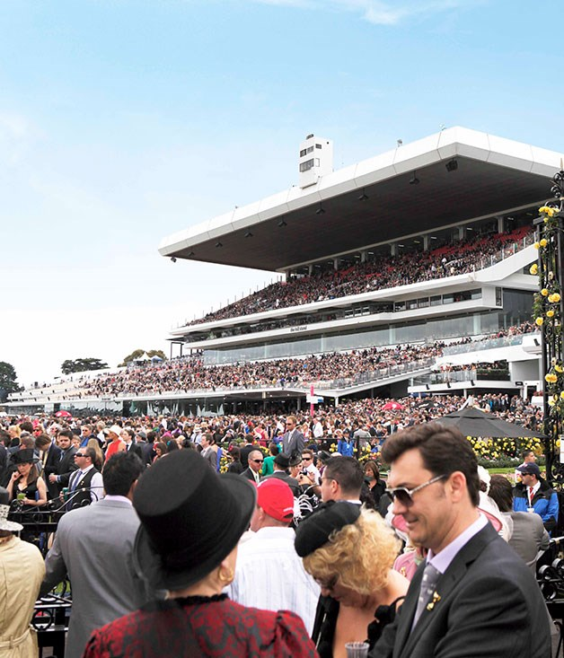 **** The packed stands on race day.