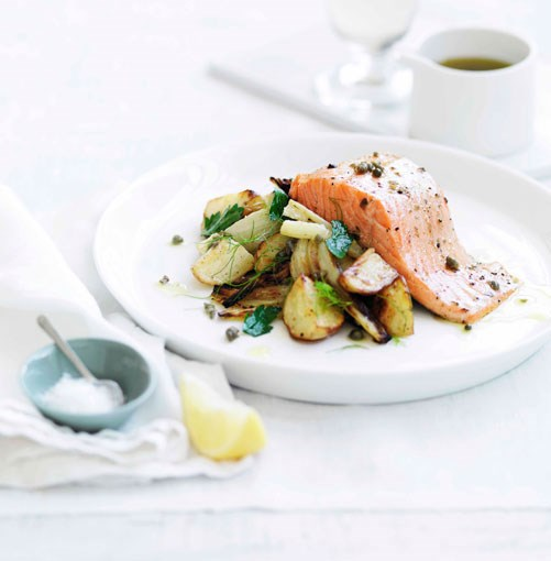 **** **Roast trout with warm fennel and potato salad**    [View Recipe](http://www.gourmettraveller.com.au/roast-trout-with-warm-fennel-and-potato-salad.htm)     PHOTOGRAPH **WILLIAM MEPPEM**