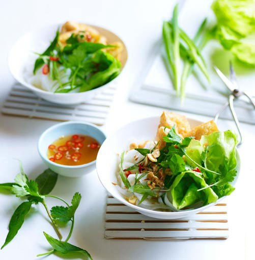 **** **Rice noodles with tofu puffs, Asian herbs and nuoc cham**    [View Recipe](http://www.gourmettraveller.com.au/rice-noodles-with-tofu-puffs-asian-herbs-and-nuoc-cham.htm)     PHOTOGRAPH **DEAN WILMOT**
