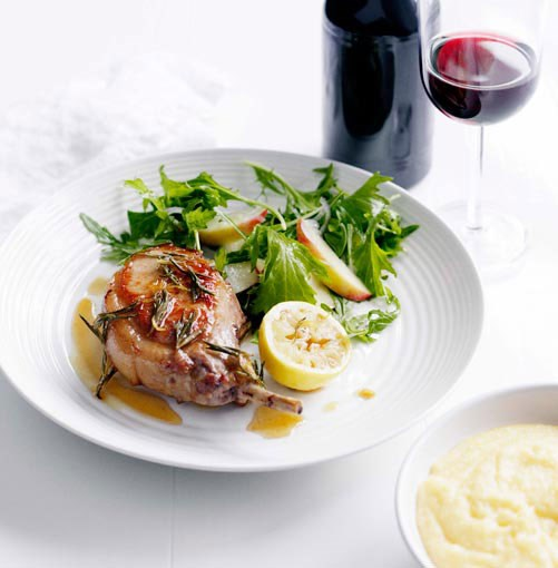 **** **Pork chops with lard honey and rosemary**    [View Recipe](http://www.gourmettraveller.com.au/pork-chops-with-lard-honey-and-rosemary.htm)     PHOTOGRAPH **BEN DEARNLEY**
