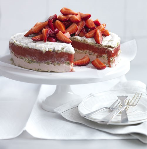 **Strawberry vacherin** **Strawberry vacherin**    [View Recipe](http://www.gourmettraveller.com.au/frozen_strawberry_and_moscato_vacherin.htm)     PHOTOGRAPH **CHRIS COURT**