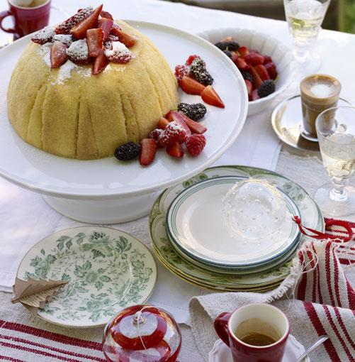 """[**Zabaglione cake with berries**](http://gourmettraveller.com.au/zabaglione_cake_with_berries.htm