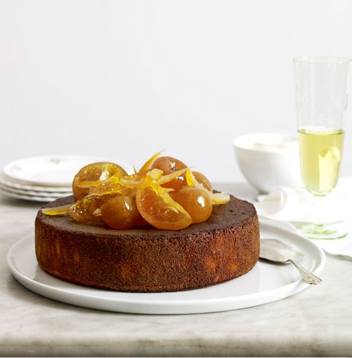 "[**Orange, cardamom and almond cake with orange-blossom yoghurt**](http://gourmettraveller.com.au/orange_cardamom_and_almond_cake_with_orange_blossom_yoghurt.htm|target=""_blank"")"