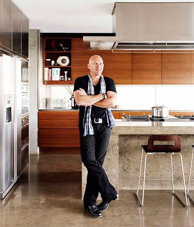 **Matt Moran's home kitchen** **Surface paradise**   Matt Moran's concrete-clad part-commercial, part-domestic kitchen reflects the Aria chef's exacting standards.