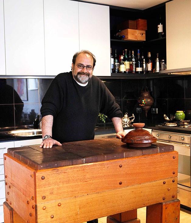 **Greg Malouf's home kitchen** Greg Malouf fills his kitchen with travel mementos.