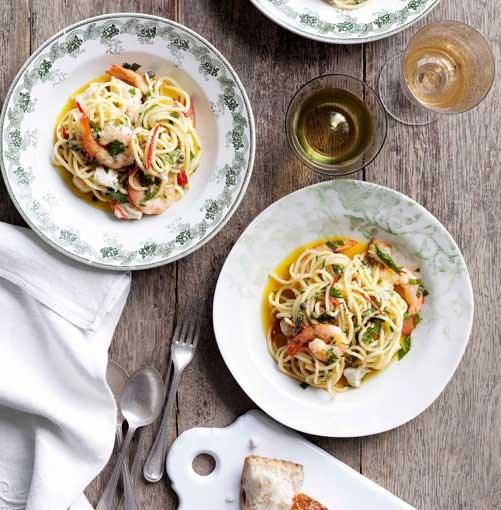 **Spaghetti with freshwater fish** **Spaghetti con pesce d'acqua dolce spaghetti with freshwater fish**    [View Recipe](http://www.gourmettraveller.com.au/spaghetti-con-pesce-dacqua-dolce-spaghetti-with-freshwater-fish.htm)     PHOTOGRAPH **BEN DEARNLEY**