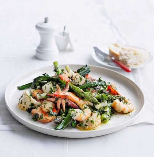 **Seafood salad with herbed dressing** **Seafood salad with herbed dressing**    [View Recipe](http://www.gourmettraveller.com.au/seafood-salad-with-herb-dressing.htm)     PHOTOGRAPH **BEN DEARNLEY**