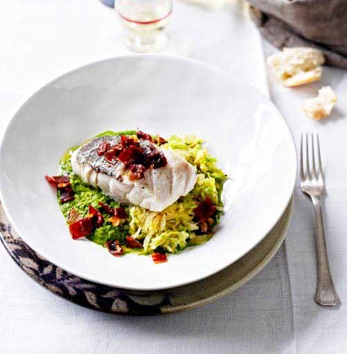 **Hapuka with prosciutto** **Hapuka with prosciutto crust and savoy cabbage**    [View Recipe](http://www.gourmettraveller.com.au/hapuka-with-prosciutto-crust-and-savoy-cabbage.htm)     PHOTOGRAPH **BEN DEARNLEY**