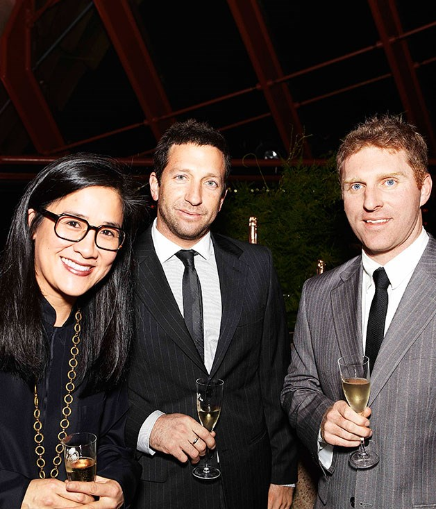 **Kylie Kwong, Diego Munoz and Luke Burgess** Kylie Kwong (Billy Kwong), Diego Muñoz (Bilson's) and Cory Campbell (Vue de Monde).