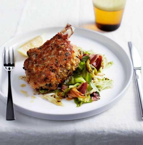**Pork costolette with cabbage and pancetta** **Pork costolette with cabbage and pancetta**    [View Recipe](http://www.gourmettraveller.com.au/pork-costolette-with-cabbage-and-pancetta.htm)     PHOTOGRAPH **BEN DEARNLEY**