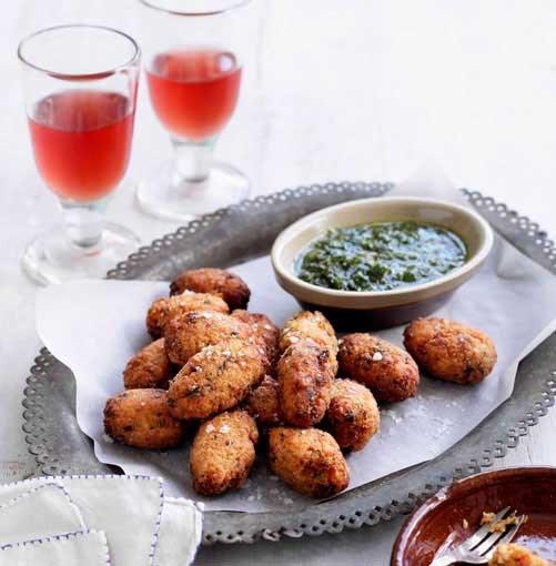 **Domatokeftedes** **Domatokeftedes**    [View Recipe](http://www.gourmettraveller.com.au/domatokeftedes-with-herb-and-garlic-sauce.htm)     PHOTOGRAPH **BEN DEARNLEY**