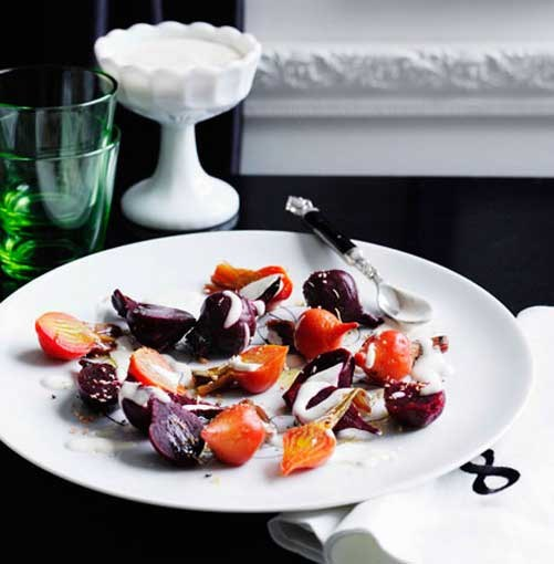 **Beetroot salad** **Beetroot salad with yoghurt and oregano dressing**    [View Recipe](http://www.gourmettraveller.com.au/beetroot-salad-with-yoghurt-and-oregano-dressing.htm)     PHOTOGRAPH **BEN DEARNLEY**
