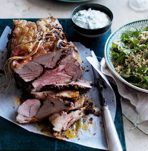 **Spring lamb roast with mint yoghurt sauce** **Spring lamb roast with mint yoghurt sauce**    [View Recipe](http://www.gourmettraveller.com.au/spring-lamb-roast-with-mint-yoghurt-sauce.htm)     PHOTOGRAPH **BEN DEARNLEY**